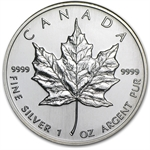 1995 1 oz Silver Canadian Maple Leaf (Brilliant Uncirculated)