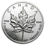 1996 1 oz Silver Canadian Maple Leaf (Brilliant Uncirculated)