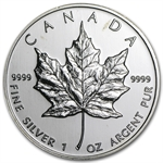 1999 1 oz Silver Canadian Maple Leaf (Brilliant Uncirculated)