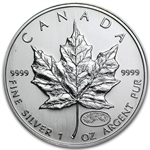 1999/2000 1 oz Silver Canadian Maple Leaf (Millennium Privy)
