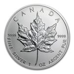 2001 1 oz Silver Canadian Maple Leaf (Brilliant Uncirculated)