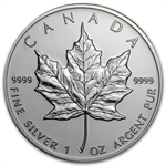 2002 1 oz Silver Canadian Maple Leaf (Brilliant Uncirculated)