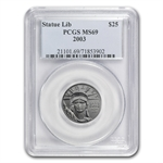 2003 1/4 oz Platinum American Eagle MS-69 PCGS