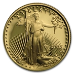 2005-W 1/10 oz Proof Gold American Eagle (w/Box & CoA)