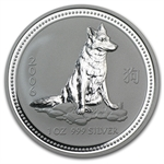 2006 1 oz Silver Lunar Year of the Dog (Series I)