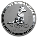 2006 5 oz Silver Lunar Year of the Dog (Series I)