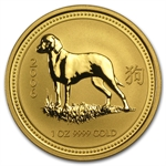 2006 1 oz Gold Year of the Dog Lunar Coin (Series I)