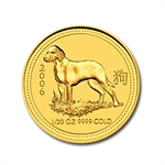 2006 1/20 oz Gold Year of the Dog Lunar Coin (Series I)