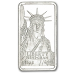 1 Gram Credit Suisse Platinum Bar (In Assay) .999+ Fine