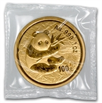 2000 1 oz Gold Chinese Panda - Frosted Ring (Sealed)
