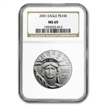 2001 1 oz Platinum American Eagle MS-69 NGC
