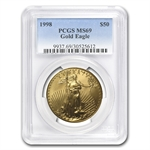 1998 1 oz Gold American Eagle MS-69 PCGS
