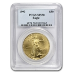 1993 1 oz Gold American Eagle MS-70 PCGS Registry Set