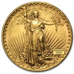 $20 St. Gaudens Gold Double Eagle - Almost Uncirculated