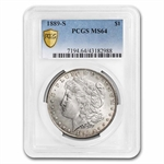 1889-S Morgan Dollar MS-64 PCGS