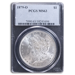 1879-O Morgan Dollar - MS-63 PCGS