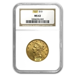 $10 Liberty Gold Eagle - MS-62 NGC