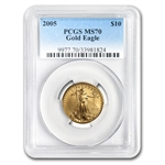 2005 1/4 oz Gold American Eagle MS-70 PCGS (20th Ann)
