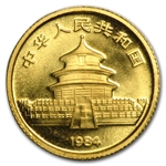 1984 (1/20 oz) Gold Chinese Pandas - (Sealed)