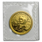 1991 (1/20 oz) Gold Chinese Pandas - Large Date (Sealed)