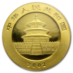 2002 (1/10 oz) Gold Chinese Pandas - (Sealed)