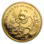 1991 (1/2 oz) Gold Chinese Pandas - Small Date (Sealed)