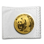 2001 (1/4 oz) Gold Chinese Pandas - (Sealed)