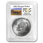 1884 Brilliant Uncirculated PCGS Stage Coach Silver Dollars