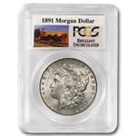 1891 Brilliant Uncirculated PCGS Stage Coach Silver Dollars