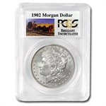 1902 Brilliant Uncirculated PCGS Stage Coach Silver Dollar