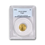 1994 1/10 oz Gold American Eagle MS-69 PCGS
