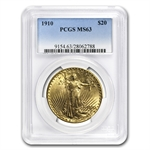 1910 $20 St. Gaudens Gold Double Eagle - MS-63 PCGS