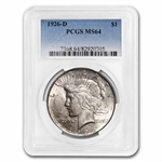 1926-D Peace Dollar MS-64 PCGS