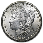 1887-S Morgan Dollar - Almost Uncirculated-58