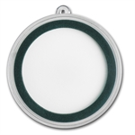 Ornament Capsule for Silver Rounds (39mm) - Green Ring
