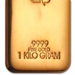 1 Kilo (32.15 oz) Gold Bar .9999 Fine
