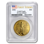 2006 1 oz Gold American Eagle MS-69 PCGS (First Strike)