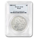 1882-O/S Morgan Dollar - Weak AU-53 PCGS Top-100 VAM