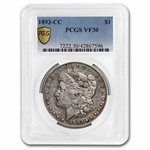 1893-CC Morgan Dollar Very Fine-30 PCGS