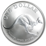 1993 1 oz Australian Silver Kangaroo (In Display Card)