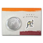 2001 1 oz Australian Silver Kangaroo (In Display Card)