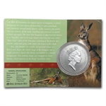 1998 1 oz Australian Silver Kangaroo (In Display Card)