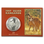 1997 1 oz Australian Silver Kangaroo (In Display Card)