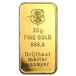 20 gram Gold Bar (Secondary Market) .999+ Fine