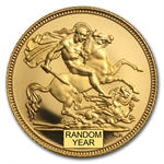 Great Britain Proof Gold 1/2 Sovereign - Random Dates