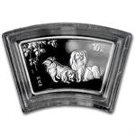 2006 Dog Fan Shaped 1 oz Silver (W/Box & Coa)