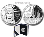 2001-W 1 oz Proof Platinum American Eagle (w/Box & CoA)