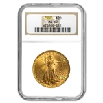 $20 Saint-Gaudens Gold Double Eagle - MS-62 NGC