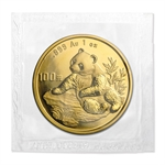 1998 1 oz Gold Chinese Panda - Large Date (Sealed)