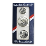 1976 U.S. Mint (3pc. SILVER) Bicentennial Uncirculated Set